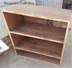 Ranjana's Craft Blog: Decoupage - shelf