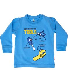 Name It lovely blue tool printed baby t-shirt. name-it.en.emilea.be