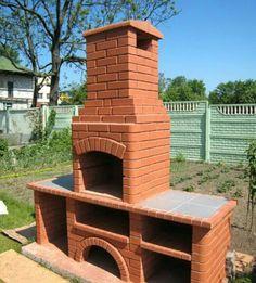 Garden Bbq Ideas, Barbecue Garden, Backyard Bbq, Outdoor Kitchen Plans, Outdoor Oven, Outdoor Firewood Rack, Barbecue Design, Brick Bbq, Outdoor Stone