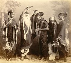 Old and Vintage Photographs of Beautiful India - Studio Portrait of a Marathi Theatrical troupe – Bombay Jaisalmer, Udaipur, Old Pictures, Old Photos, Vintage Photographs, Vintage Photos, Vintage Vignettes, India Independence, Vintage India