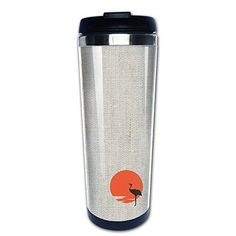 Sandhill Crane 400ml Or 10.6 Ounce Stainless Steel Travel Coffee Mug With Easy Clean Lid Thermos For Drinking Coffee Milk Juice Or Tea Cups ** Details can be found by clicking on the image.