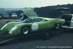 Piper GTT on a trailer at Brands Hatch, 1969.