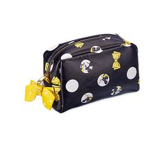 Minnie Mouse Signature Make-Up Bag (€13) ❤ liked on Polyvore featuring beauty products, beauty accessories, bags & cases, toiletry bag, cosmetic purse, purse makeup bag, travel kit and dop kit
