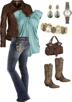 Think it would be better with the turquoise Corral boots I picked