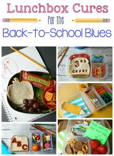 Tons of fun lunches to cure those back to school blues!