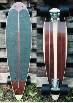 "26"" Mini Pintail Cruiser Board in a Vintage Surf Look... by ElyzCruzBoardz"