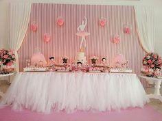 Encontrando Ideias: Festa Bailarina!! Ballerina Birthday Parties, Ballerina Party, Girl Birthday, Tutu Party, Baby Party, Baby Shower Parties, Tulle, Decoration Originale, Princess Party