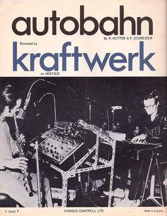 "enterend: "" zoker: "" Kraftwerk Autobahn sheet music (by Mike Gerrish) "" "" Music Stuff, My Music, Music Things, Music Life, Music Icon, E Drum, Tv Movie, Poster Design, Graphic Design"