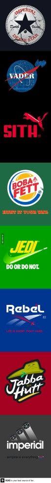 Star Wars style logos