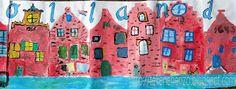 Dutch Canal Houses (art, too) Artists For Kids, Art For Kids, Kid Art, Dutch Still Life, Black Construction Paper, Drawing Sheet, Liquid Watercolor, Dutch Golden Age, Student Drawing