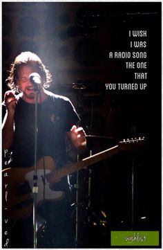Found on eddie-vedder Music Is My Escape, Music Love, Music Is Life, Music Music, Great Bands, Cool Bands, Pearl Jam Lyrics, Pearl Jam Quotes, Radio Song