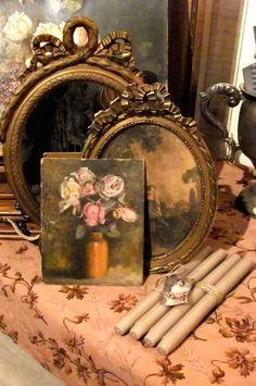 still life art print and antique frames