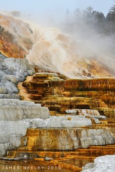 Mammoth Hot Springs, Yellowstone National Park; photo by James Neeley