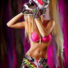 Image via We Heart It https://weheartit.com/entry/93855477/via/16848252 #blonde #hair #love #motocross