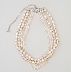 Assorted Five Row Pearl Necklace - Deluxe Fashion Accessories