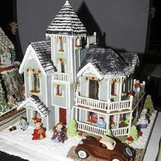 Gingerbread - Fourth Place Winning Entry - 2007 Adult Category The National Gingerbread House Competition at the Grove Park Inn Resort and Spa Gingerbread Village, Christmas Gingerbread House, Gingerbread Man, Christmas Stuff, Gingerbread Stories, Haunted Gingerbread House, Christmas Houses, Christmas Foods, Christmas Villages