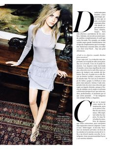 Cara Delevingne by Quentin de Briey for Vogue Spain January 2013