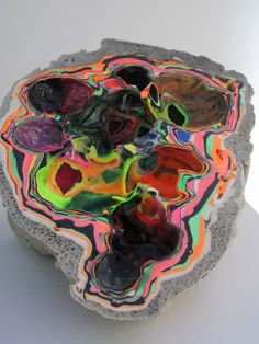 geode......never seen this one before! wow  Neither have I, wonder if it is dyed?