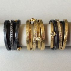 Multi-band rings in gold and silver.Todd Reed
