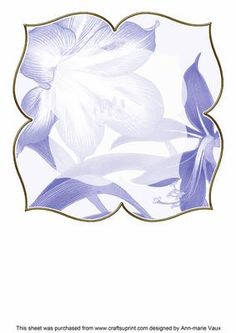 Amarylis Blue Large Blooms 8inch Insert Panel on Craftsuprint - Add To Basket!