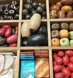 Abalorios de materiales naturales