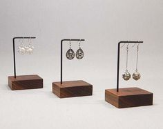 Earring Stands, Earring Display, Earring Holder, Earring Organizer, Jewelry Display, Jewelry Stand, Wood Steel Earring Stand 120