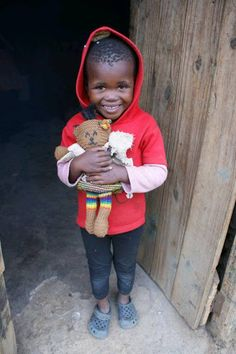 It's been cold in South Africa recently and this child made her teddie a coat. Such a cute Mother Bear Project sighting!