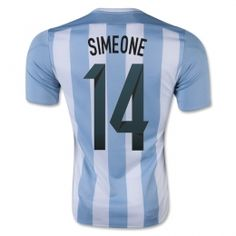 6117b1b9db6 Argentina national team 2015 Home Simeone  14 Soccer Jersey  A905  Argentina  Soccer Team