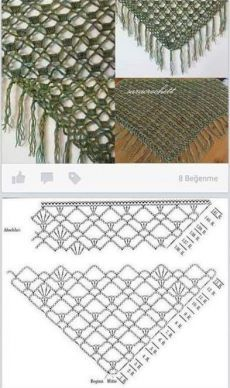 Crochet shawl chart: also chaple veil. This Pin was discovered by Rie Ravelry: Project Gallery for My Blue Jeans Shawl pattern by Knottie by Nature Poncho Au Crochet, Crochet Shawl Diagram, Crochet Shawls And Wraps, Crochet Chart, Love Crochet, Crochet Scarves, Crochet Motif, Crochet Clothes, Crochet Lace