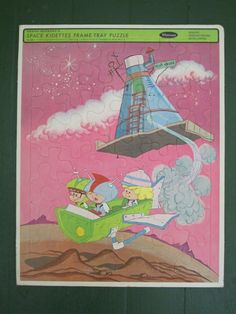 SPACE KIDETTES 1967 frame tray puzzle by MidgeAndTilly on Etsy, $15.00