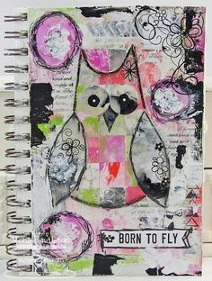 Mona Kuhaneck Pendleton - art journal with Gelli