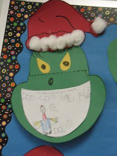 Mrs. Morrow's Kindergarten: Christmas  To Make the Grinch Grin I would......