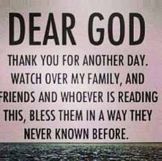Amen and thank you, God.