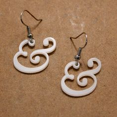 Beautiful Baskerville Ampersand Earrings. This week's Pin-it-to-Win-it Item!