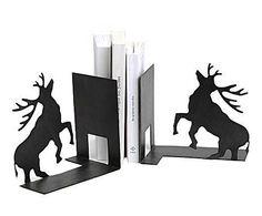 RÚSTICO & GLAM: Set de 2 sujeta libros de hierro - negro