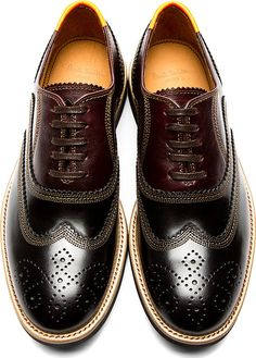 Paul Smith Jeans: Black & Brown Shortwing Brogues