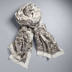 Simply Vera Vera Wang Bandana Square Scarf ($18) ❤ liked on Polyvore featuring accessories, scarves, white oth, bandana scarves, white scarves, simply vera, white shawl and white bandana