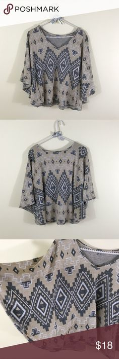 Charlotte Russe Aztec Tribal Batwing Top Really cute, just don't wear it anymore. A couple small pulls. Charlotte Russe Tops