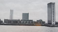 Pepys Estate from the North Shore of the Thames circa 1966.