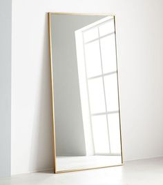 West Elm Floor Mirror in Antique Brass in bedroom feng shui Here's Exactly How a Feng Shui Expert Would Arrange a Small Bedroom Floor Mirror, Big Mirror In Bedroom, Feng Shui, How To Feng Shui Your Home, Bedroom Diy, Cheap Home Decor, Feng Shui Small Bedroom, Small Bedroom, Bedroom Decor