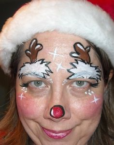 face painting Lisa Joy Young | Starting up christmas designs...