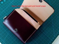tutorial for short wallet Not for sell!! leather tutorials hand made tutorials hand stitched tutorial wallet patterns
