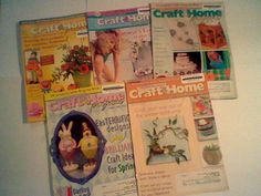 Craft U0026 Home Projects Decorating Digest 5 Ex Library Magazine Lot, From 2010
