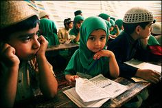 Little Muslim scholar. Absolutely precious!