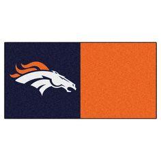 Denver Broncos Blue/Orange Team Proud Carpet Tiles