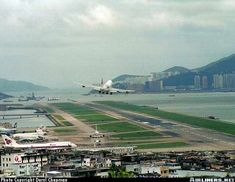 Old Hong Kong Airport Kai Tak Airport, British Hong Kong, Navy Day, Cathay Pacific, Commercial Aircraft, Civil Aviation, Aeroplanes, International Airport, The Good Old Days