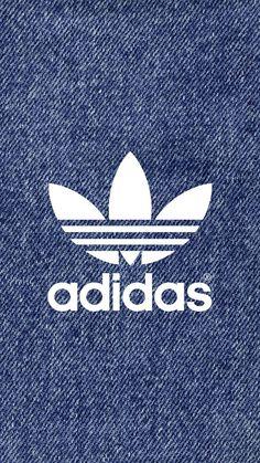[デニム]アディダスロゴ/adidas Logo2iPhone壁紙 iPhone 5/5S 6/6S PLUS SE Wallpaper Background