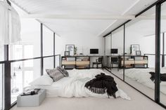 Loft bedroom, all about the Lines #UOonCampus and #UOContest.