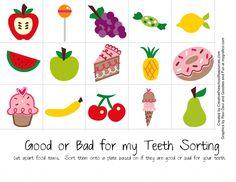 Good/Bad for teeth sorting