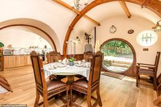 Lord of the Rings fans can live like a hobbit in a quirky hand-crafted holiday let Sustainable Architecture, Residential Architecture, Contemporary Architecture, Hobbit Hole, The Hobbit, Hobbit House Interior, Natural Building, Green Building, Curved Walls